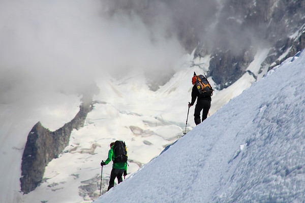 Climbing Mont Blanc from Chamonix, France - July, 2011