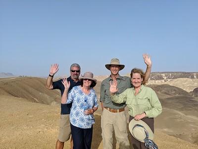 Day 6, Jordan to Israel - Walk across the Border ending up in Mitzpe Ramon