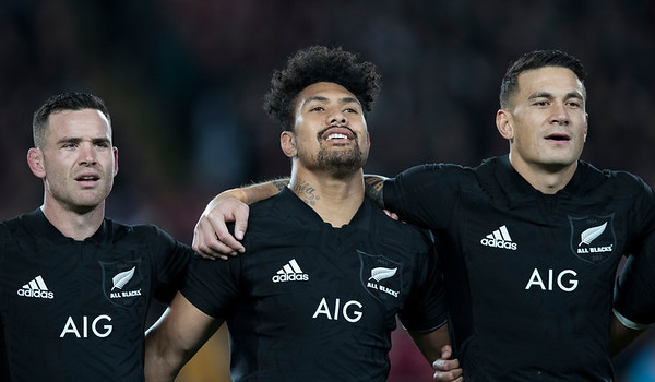 Sonny Bill Williams Ardie Savea Ryan Crotty during game 7 of the British and Irish Lions 2017 Tour of New Zealand, the first Test match between  The All Blacks and British and Irish Lions, Eden Park, Auckland, Saturday 24th June 2017 (Photo by Kevin Booth Steve Haag Sports)  Images for social media must have consent from Steve Haag