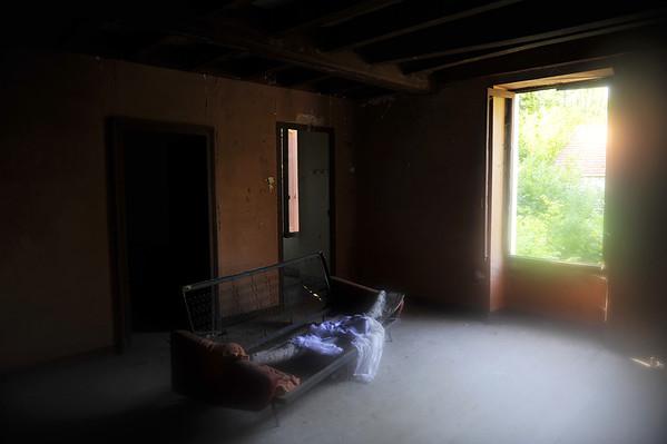 A l'étage .... où l'homme a dormi ...
