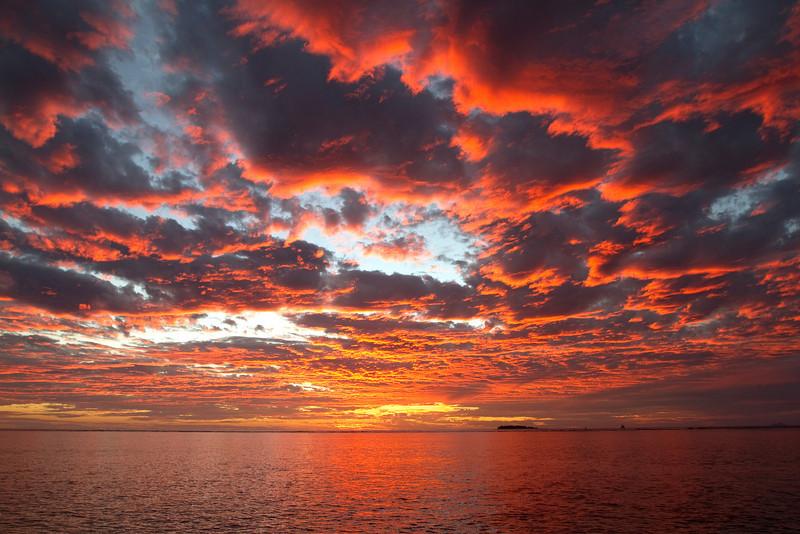 Fire sky sunset