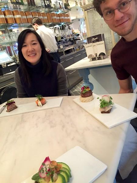 mini smorrebrod at royal smushi cafe