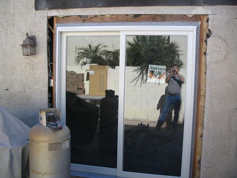 The new kitchen door.