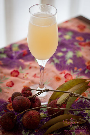 The Bridal Bouquet: St-Germain Liqueur, Jasmine Tea Vodka, X-RATED Fusion Liqueur, Hawaiian Honey Syrup, Champagne. © 2012 Sugar + Shake