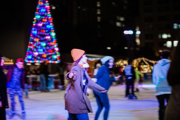 Ice Skating x Pershing Square DTLA