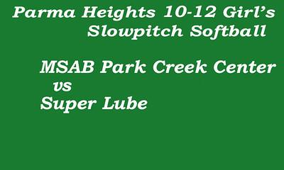 170626 Parma Heights Girl's 10-12 Softball Game 1