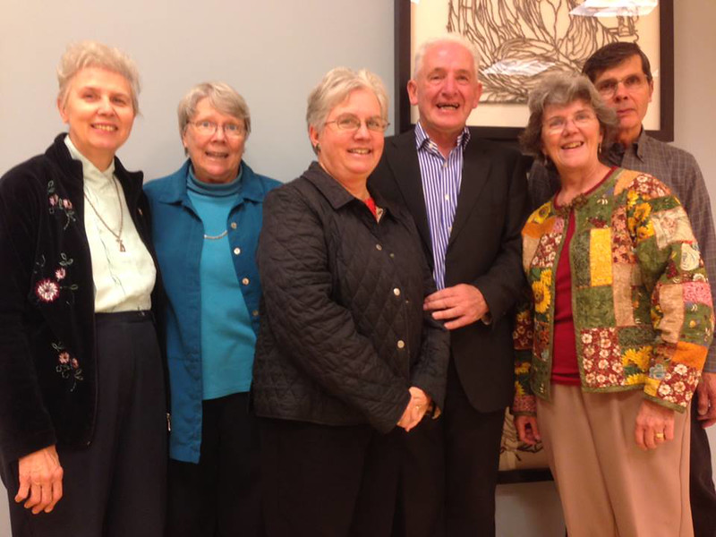 New York organizers w/ Fr. Flannery