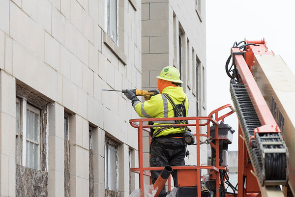11/19/19 Wesley Bunnell   StaffrrCourtland Arms Apartments under construction on Court St on Monday November 18, 2019.
