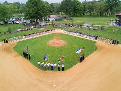 Bridgeport American Legion Baseball's Salute to Public Servants (6/17/17)
