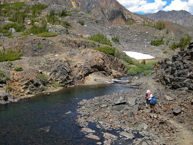 """Close to the """"bridge"""" over Mill Creek, it's running down to Lundy Lake."""