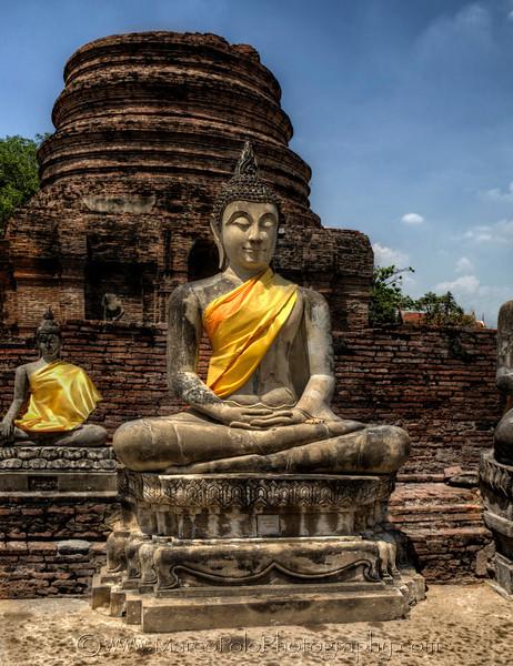 """Ayutthaya. Buddha at Wat Yai Chai Mongkhon No2. 15"""" x 19"""""""