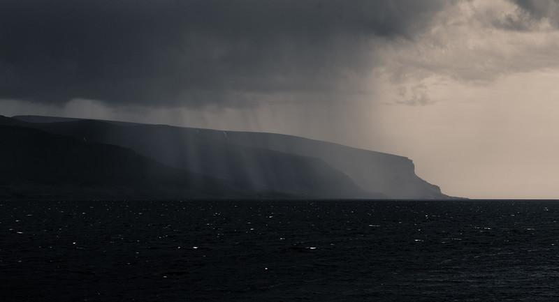 Rain Over The Fjord