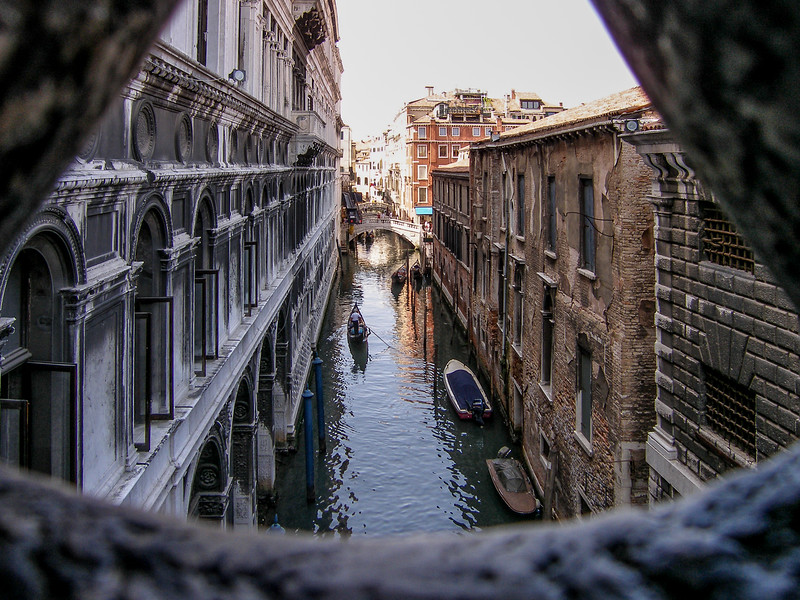 Doge's Palace view from Bridge of Sighs