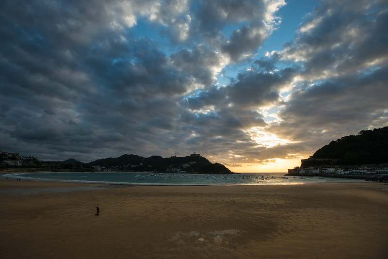 Sunset over the Bay of Biscay San Sebastian