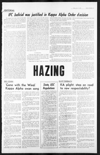 Daily Trojan, Vol. 59, No. 34, November 03, 1967