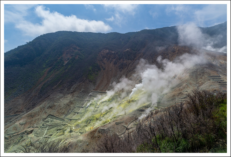Owakudani sulfur fields
