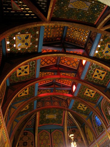 and the ceiling in an Amir's palace - the Sun and Moon Palace