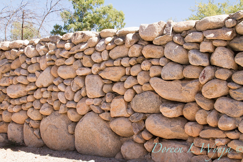 Arizona; Fence; fencing; river rock; rock wall; Southwestern; stacked stone; Stone; stone wall