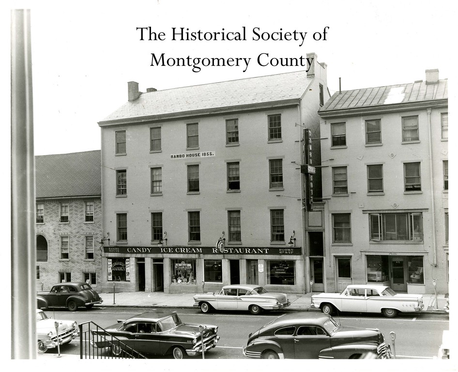 . This photo from the Historical Society of Montgomery County shows the Rambo House on Swede Street in Norristown, opposite the courthouse, in the 1950s.