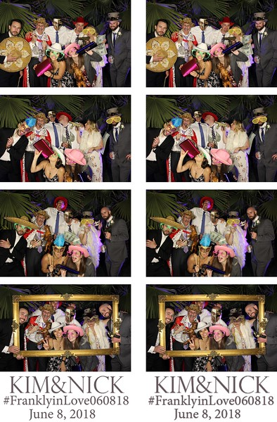 Kim & Nick Wedding - 6.8.18 - Photo Strips