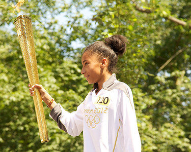 Olympic Torch 2012 comes to  Kensington
