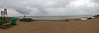 35 miles and quite a lot of rain later we arrive at Burton Bradstock beach ........no the horizon wasn't lumpy!