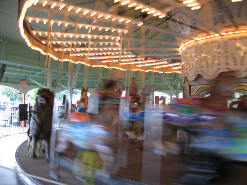 Carousel in motion.