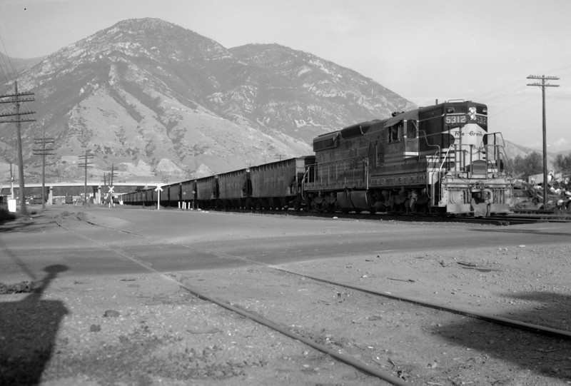 D&RGW passing through Provo. August 6, 1965. <i>(Marvin Black Photo)</i>