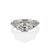 1.58ct Antique Marquise Cut Diamond AGS I, VS2 in Sebastien Barier Style B04 0