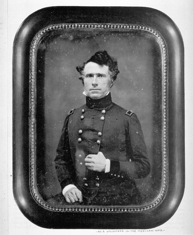 . A portrait-daguerreotype of Franklin Pierce, circa 1846-1848, as a volunteer in the Mexican War.  Pierce was elected 14th president of the United States (1853-1857).  (AP Photo/Library of Congress)