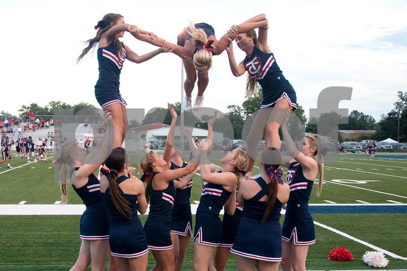 Cheerleaders/Danceteam at Notre Dame Game