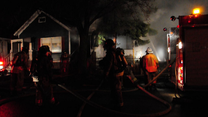 Buffalo Fire Video Crews had been ordered out of the building and the fire attack went defensive.