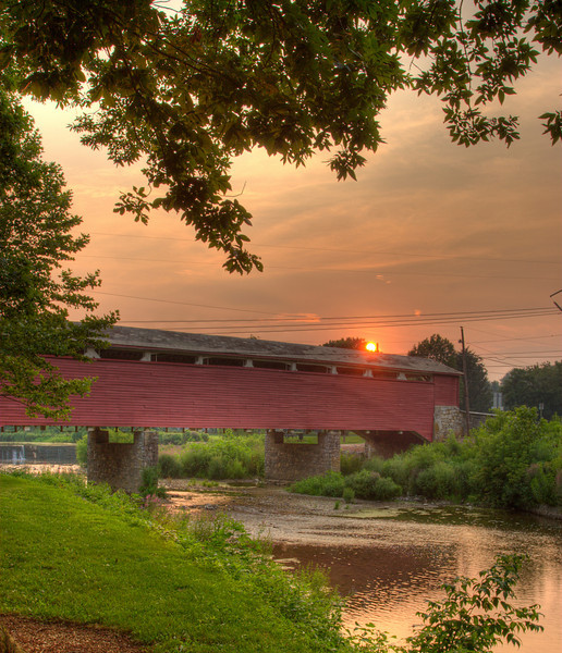 Wehr's Bridge at Sunset Jordan Creek, PA   © WEOttinger, The Wildflower Hunter - All rights reserved For educational use only - this image, or derivative works, can not be used, published, distributed or sold without written permission of the owner.