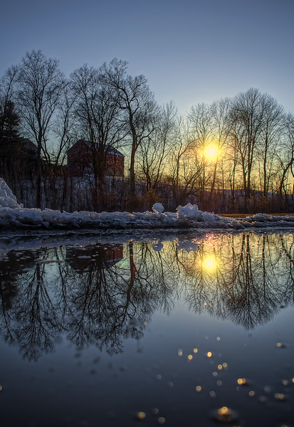 reflection  - sunset puddle behind mexican rest(p).jpg