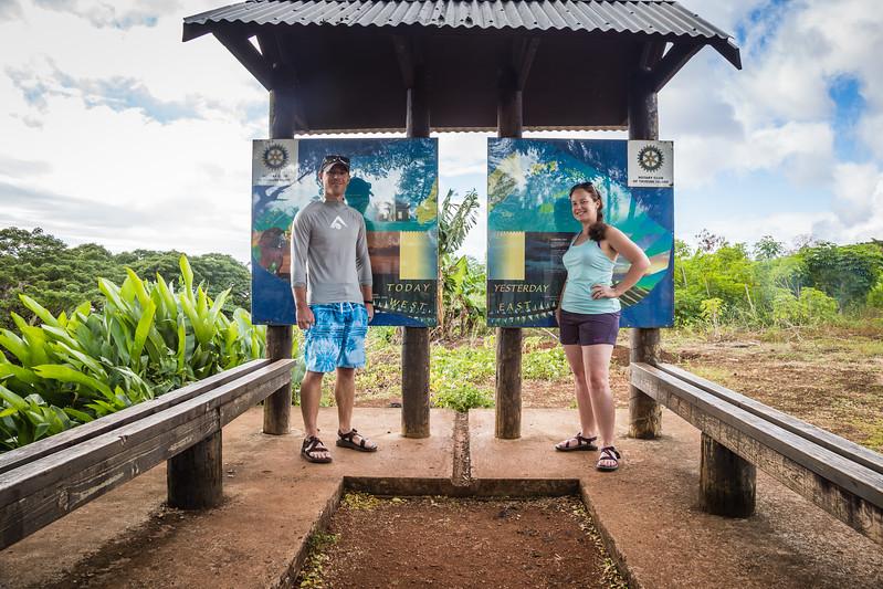International Date Line Taveuni Fiji
