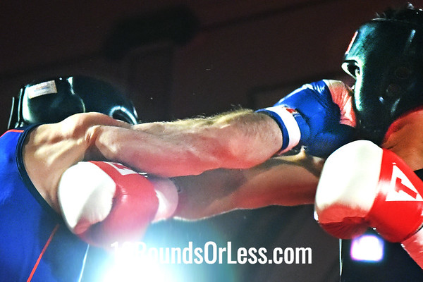 Bout 2 Juan Torres, Red Gloves, Against the Ropes BC, Painesville -vs- Alek Frenk, Blue Gloves, GriffonRawl, 165 Lbs