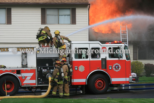 5/14/13 - Lansing condominium fire, 3922 Hunters Ridge #1