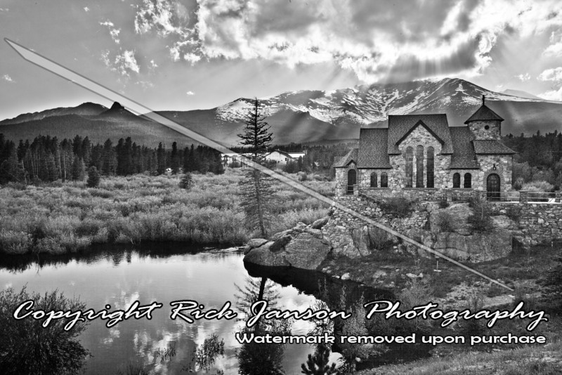 Convent Heights Church along the Peak to Peak Highway in Colorado.