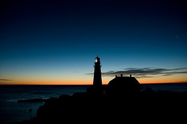Sunrise Portland Head-Portland Head Lighthouse-Maine-Cape Elizabeth-United States