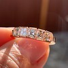 1.28ctw Asscher Cut Diamond 5-Stone Band, 18kt Rose Gold 7