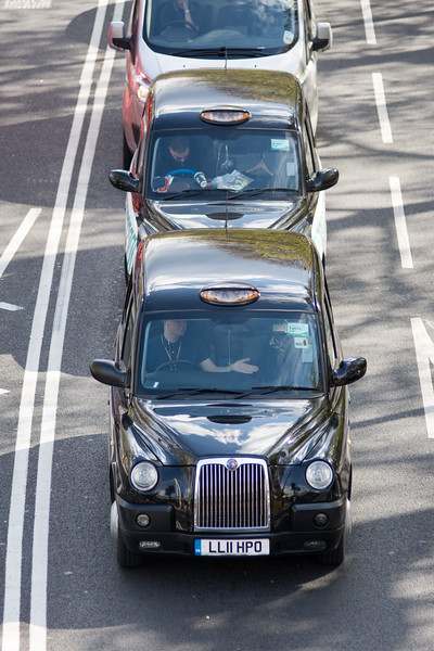 Taxis on London Embankment