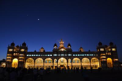 Mysore Palace -  Amba Vilas Mysore - Illuminated