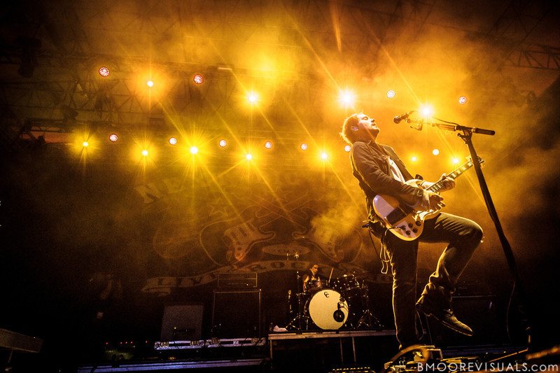 Brian Aubert of Silversun Pickups performs on December 1, 2012 during 97X Next Big Thing at Vinoy Park in St. Petersburg, Florida