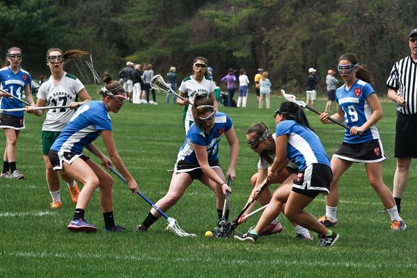 Girls' JV Lacrosse vs. New Hampton: May 9