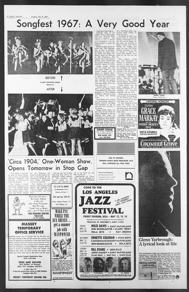Daily Trojan, Vol. 58, No. 119, May 09, 1967