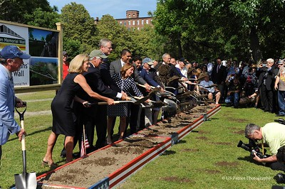 Vietnam Wall Groundbreaking in Fall River, MA; 2 JUL 19