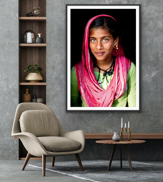 'Rajasthani Beauty' Fine Art Print Framed/Unframed