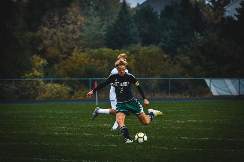 Holy Family Boys Varsity Soccer Section 6A Quarterfinal vs. Monticello, 10/10/19: Thomas Aragon-Menzel '20 (2)