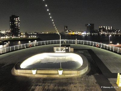 ss ROTTERDAM Decks at Night Jan 2014