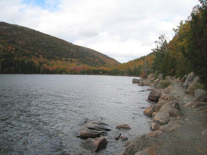Jordan Pond, Acadia National Park - we hiked all the way around - about 4 miles!